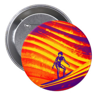 Button, Abstract Sunset Design