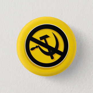 Button: Anti hammer and sickle 3 Cm Round Badge