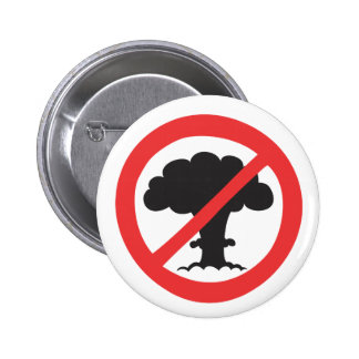 Button anti nuclear weapons symbol