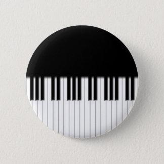 Button Badge - Piano Keyboard black white
