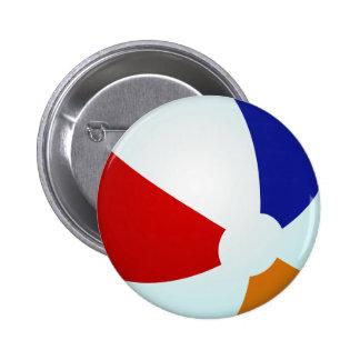 Button Beach Ball Summer Fun Red White Blue Orange