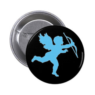 Button Blue Cupid On Black