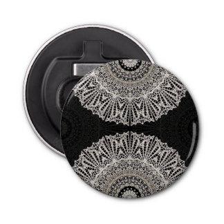 Button Bottle Opener  Mandala Mehndi Style G384