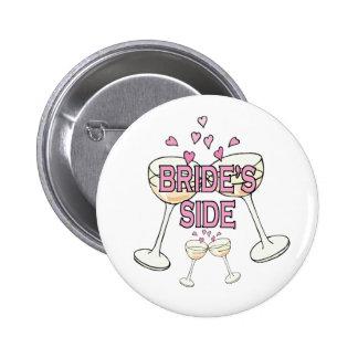 Button: Bride's Side 6 Cm Round Badge