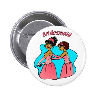 Button: Bridesmaid (Pink)  II