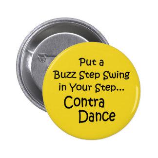 Button-Buzz Step Swing 6 Cm Round Badge