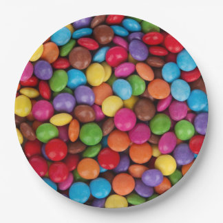 Button Candy Paper Plate
