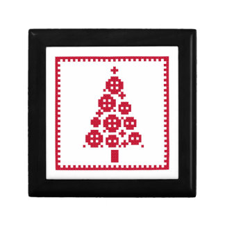 Button Christmas tree Small Square Gift Box