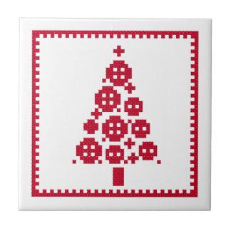 Button Christmas tree Tile