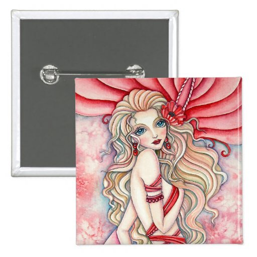 Button - Crimson Glamour