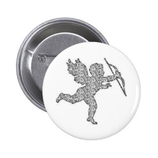 Button Cupid Silver