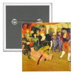 Button:  Dancing the Bolero: Toulouse-Lautrec 15 Cm Square Badge