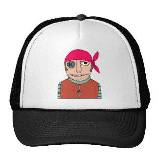 Button Eye Pirate Mesh Hat