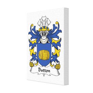 Button Family Crest Canvas Prints