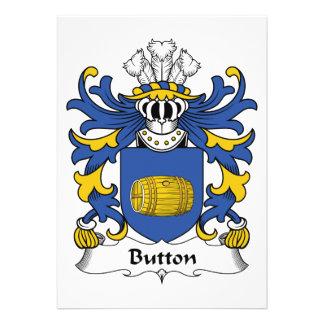 Button Family Crest Invites