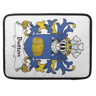 Button Family Crest Sleeves For MacBook Pro