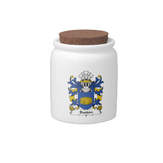 Button Family Crest Candy Jar