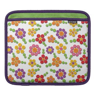 Button Flower Pattern iPad Sleeve