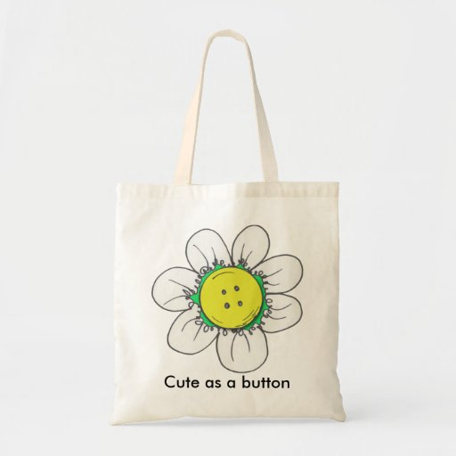 Button Flower tote bag