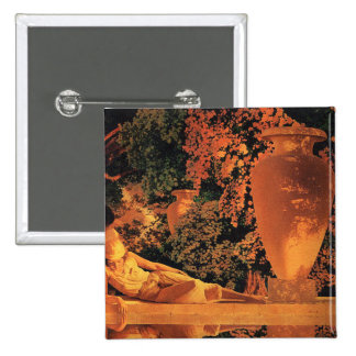 Button:  Garden of Allah- Maxfield Parrish