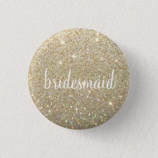 Button - Gold Glitter Fab bridesmaid