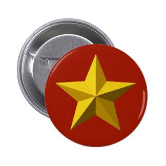 Button - Gold Star