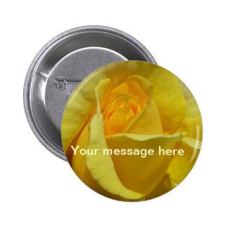 BUTTON - Golden Glow Rose