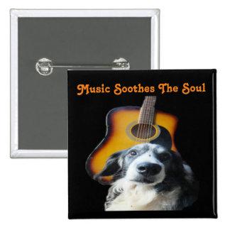 Button Guitar Dog