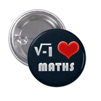 Button I LOVE MATHS