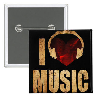 "Button ""I Love Music """