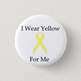 Button--I Wear Yellow For Me 3 Cm Round Badge