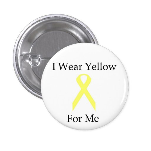 Button--I Wear Yellow For Me