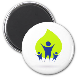 Button in fresh style : Family icon 6 Cm Round Magnet