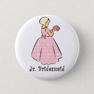 Button: Jr Bridesmaid 6 Cm Round Badge