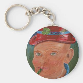 Button Key Ring : Ireland Basic Round Button Key Ring