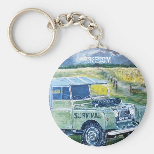 Button Key Ring. Title: FREEDOM Basic Round Button Key Ring