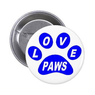 Button Love Paws on Paws Blue
