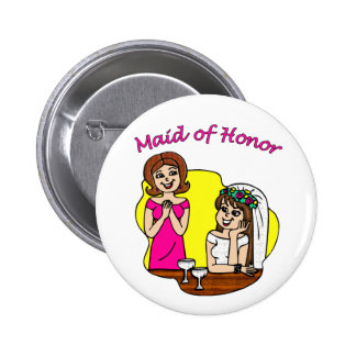 Button: Maid of Honor II