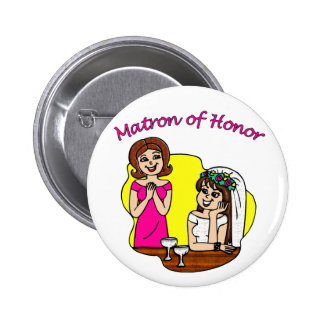 Button Matron of Honor II