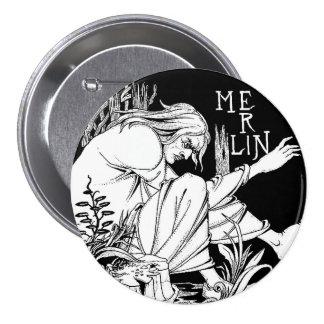 Button: Merlin by Aubrey Beardsley 7.5 Cm Round Badge