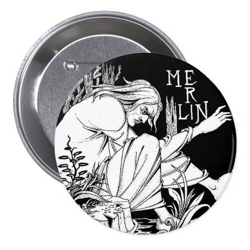 Button: Merlin by Aubrey Beardsley