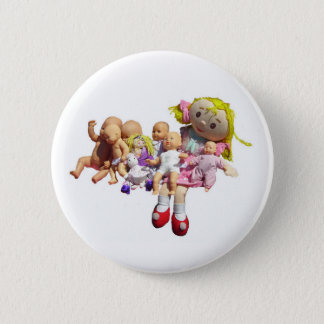 Button - Nine Dollies in a Row