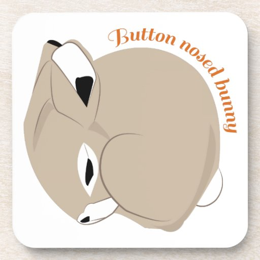 Button Nosed Bunny Beverage Coasters