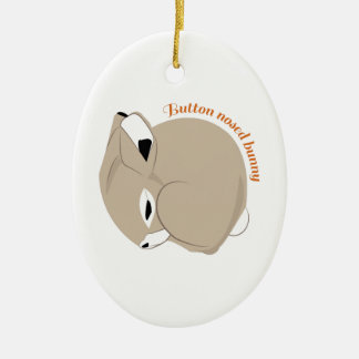 Button Nosed Bunny Christmas Ornaments