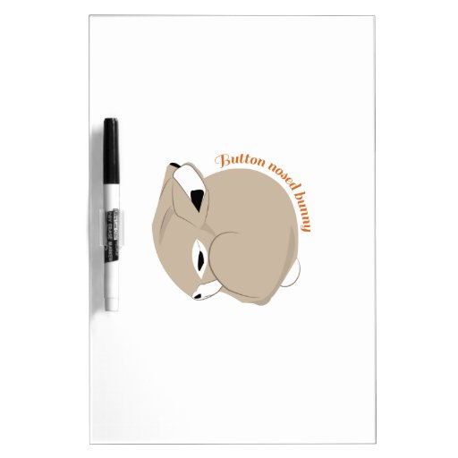 Button Nosed Bunny Dry-Erase Boards