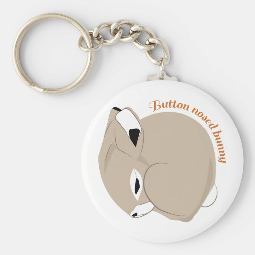 Button Nosed Bunny Key Chain