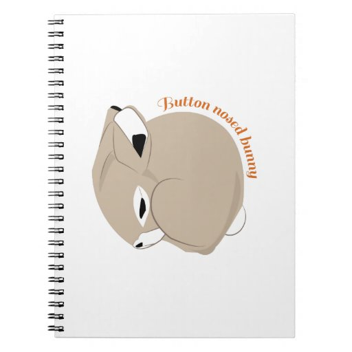 Button Nosed Bunny Spiral Notebook