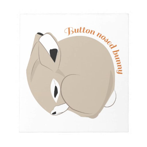 Button Nosed Bunny Memo Notepads