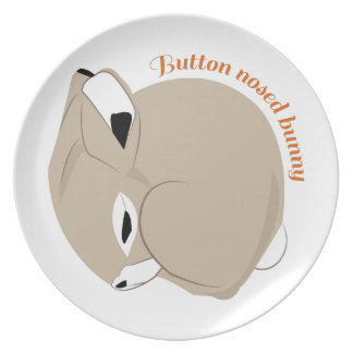 Button Nosed Bunny Dinner Plate