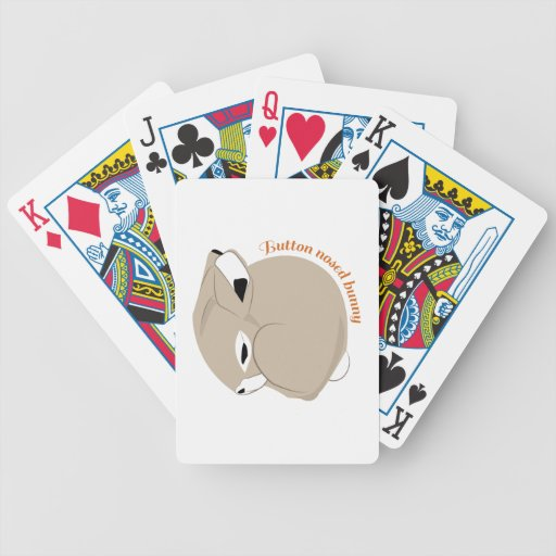 Button Nosed Bunny Bicycle Poker Deck